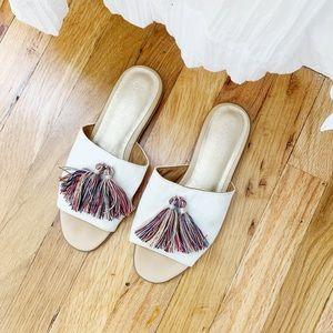 Seychelles multi color tassel sandals